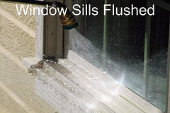 Window Sills Flushed